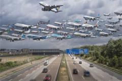 世界上最恐怖的飞机,机身全透明可清楚看到飞机外景色