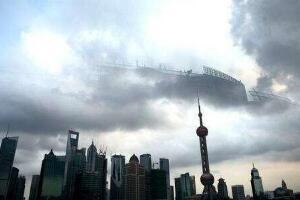 一张可怕的海市蜃楼图,天上高楼压抑的让人疯狂(十分钟后消失)