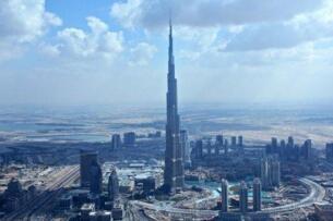 世界第一高楼迪拜塔有多高,828米/126层(现名哈利法塔)