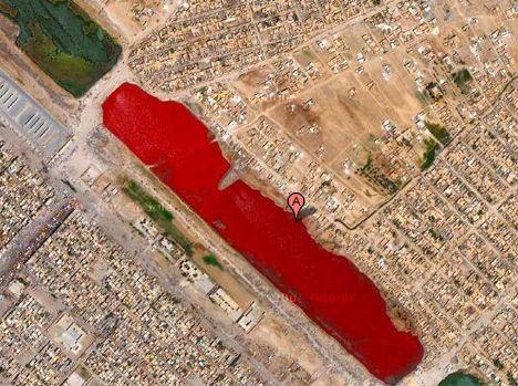 谷歌地图发现伊拉克血湖 揭秘伊拉克血湖是怎么形成