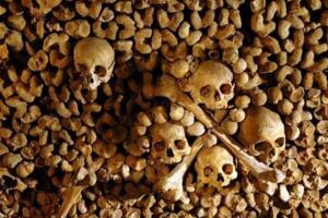 法国巴黎地下墓穴,用600万具尸骸砌墙的骷髅墓穴