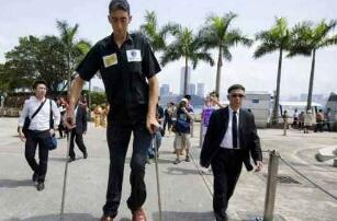 目前世界第一高人苏尔坦·科森,高2.47米取代鲍喜顺2.36米