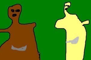 熊出没灵异事件图片,熊大的头变细手变长十分诡异
