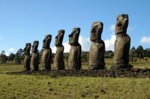 揭秘智利复活岛巨人阵之谜,复活节岛石像的诅咒至今未解