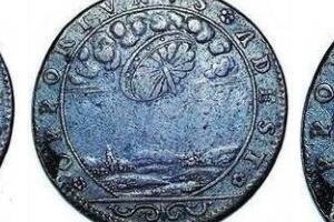 17世纪法国古币上的UFO,硬币上惊现盘旋在空中的飞碟(硬币上惊现UFO)
