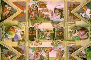 米开朗基罗密码壁画里藏人脑图揭秘,壁画惊现人脑解剖